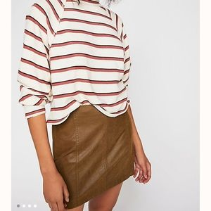 FREE PEOPLE PENCIL SKIRT FAUX LEATHER